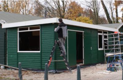 Aanbouw IJsclub Heerjansdam